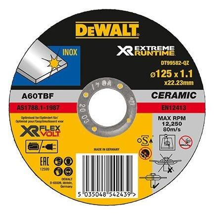 XR FLEXVOLT Angle Grinder Metal Deburring Disc