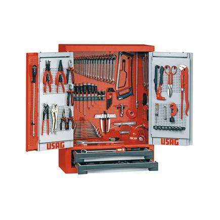 Tool cabinet with assortment 496 E6 for industrial maintenance (123 pcs.)