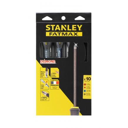 10 Fatmax Diamond Tip Screwdriver Set - Std-Str/elet-Ph-Pozi