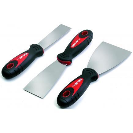 Set of 3 flexible scrapers