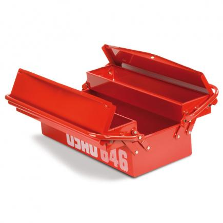Long cantilever tool boxes, three compartments (empty)