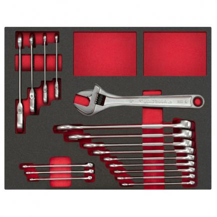 Assortment with wrenches (17 pcs.)