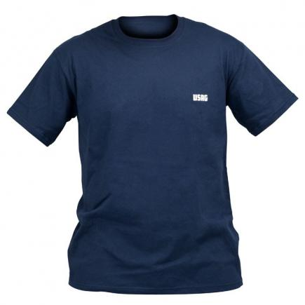 Blue T-shirt, short sleeves