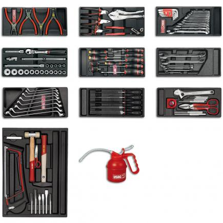Assortment for industrial maintenance (83 pcs.) - 3 drawers