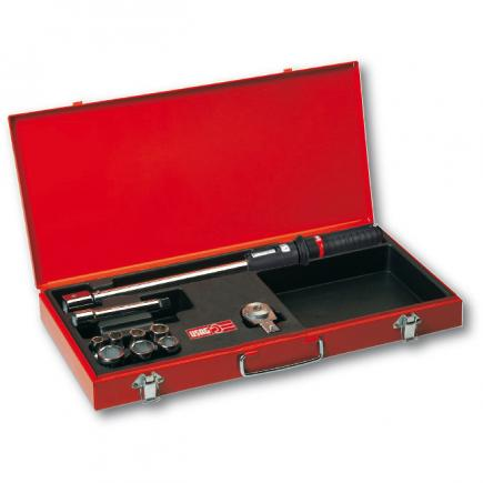 Assortment with torque wrench in sheet steel case (10 pcs.)