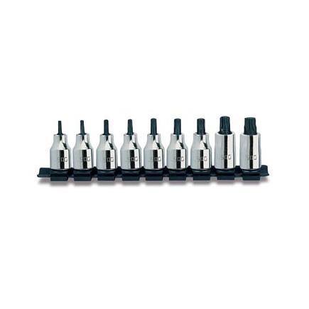 """Set of 9 1/2""""socket bits for TORX® screws"""