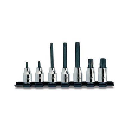 "Set of 7 1/2"" socket bits for XZN screws"
