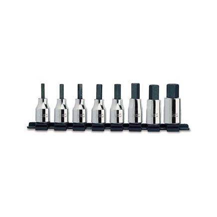 """Set of 8 1/2"""" socket bits for Allen screws"""