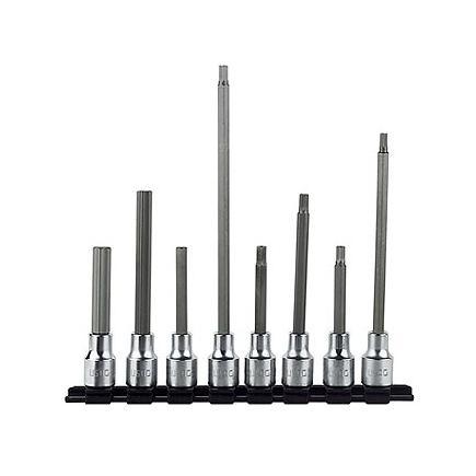 """Set of 8 1/2"""" long socket bits for Allen screws"""