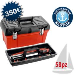 Nautical tool box for maintenance (58 pcs.)