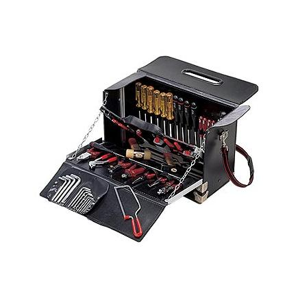 Borsa portautensili con assortimento 496 I per elettrotecnica (57 pz)