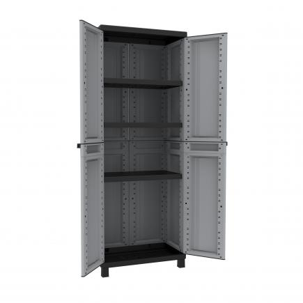 2 Doors Resin Cabinet 68x39x181 - 3 adjustable inner shelves