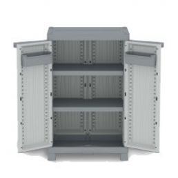 Wave XLVertical 210R - 2 Doors Cabinet 70x43,8x110 - 2 adjustable inner shelves - 2 bins