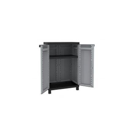 2 Doors Resin Cabinet 68x39x102,5 - 1 adjustable inner shelf