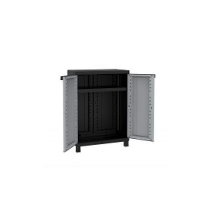2 Doors Resin Cabinet 68x39x91,5 - 1 adjustable inner shelf