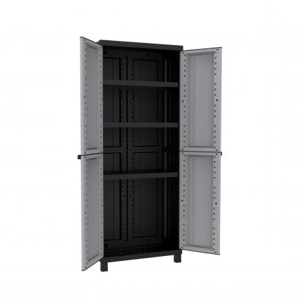 2 Doors Resin Cabinet 68x39x170 - 3 adjustable inner shelves