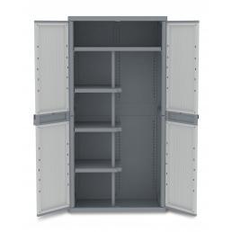 Wave Jumbo 3900 - 2 Doors Cabinet 89,7x53,7x180 - 4 adjustable inner shelves - 1 broom holder