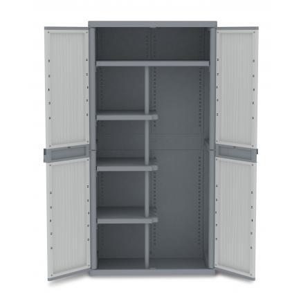 Doors Outdoor Cabinet 89,7x53,7x180 - 4 adjustable inner shelves - 1 broom holder
