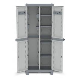 Wave Base 3700 - 2 Doors Cabinet 70x43,8x181,8 - 4 adjustable inner shelves - 2 broom holder - 4 bins