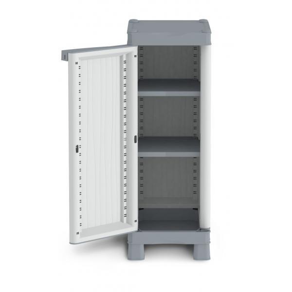 Terry armadio da esterno 1 anta 2 ripiani 35x43 8x97 6 cm - Armadietto plastica per esterno ...