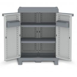 Wave Base 700 - 2 Doors Cabinet 70x43,8x97,6 - 2 adjustable inner shelves - 2 bins