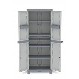Wave Base 2700 - 2 Doors Cabinet 70x43,8x181,8 - 4 adjustable inner shelves - 2 bins