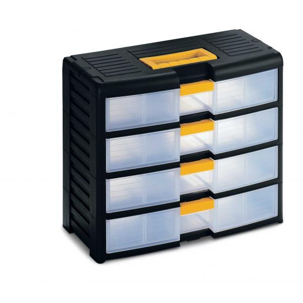 Plastic Portable Storage Cabinet Short : Modular plastic portable drawer cabinet with locking