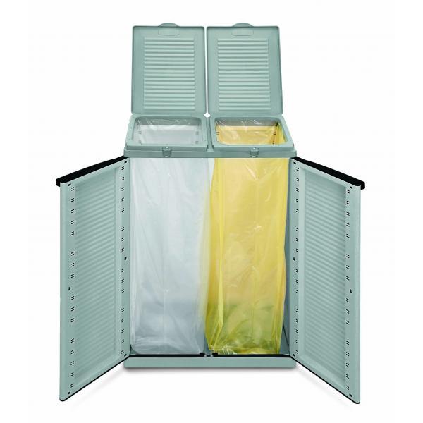 armadio in resina colore grigio da esterno per la raccolta ...