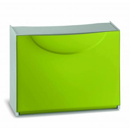 Scarpiera in plastica - Capacità 3 paia - Verde/Grigio