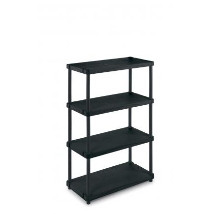 Modular outdoor resin 4 shelves unit 80x40x139