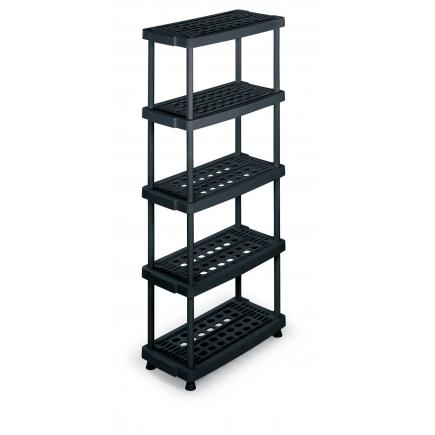 Modular 5 shelves plastic unit 79x39x176