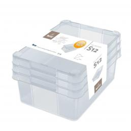 Set Milano Box S12 - Set of 3 multifunctional boxes 12 l.