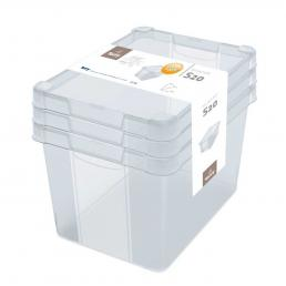 Set Milano Box S20 - Set of 3 multifunctional boxes 20 l.