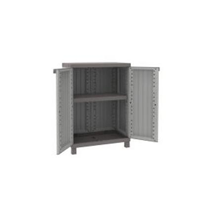 2 Doors Cabinet Faux Wood finishing 68x39x91,5 - 1 adjustable inner shelf