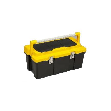 Big cantilever tool case with removable tray and organizers in the lid