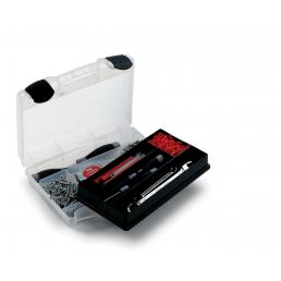 Tool case with organizer tray for small parts 29,1x22,4x8