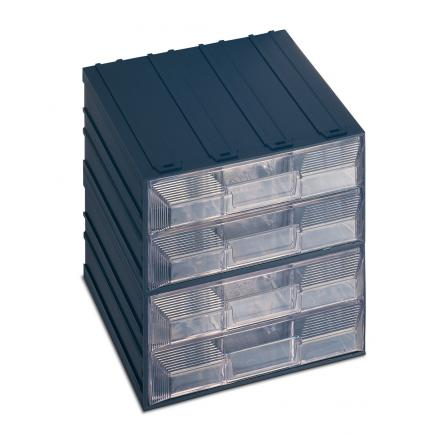 Drawer small parts organizer with label holder, 8 drawers with separator 20,8x22,2x20,8