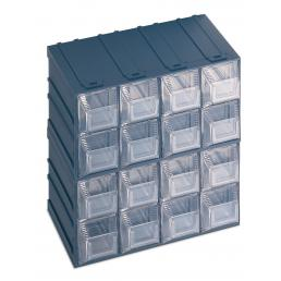 Cassettiera portaminuteria con portaetichetta 16 cassetti 20,8x13,2x20,8
