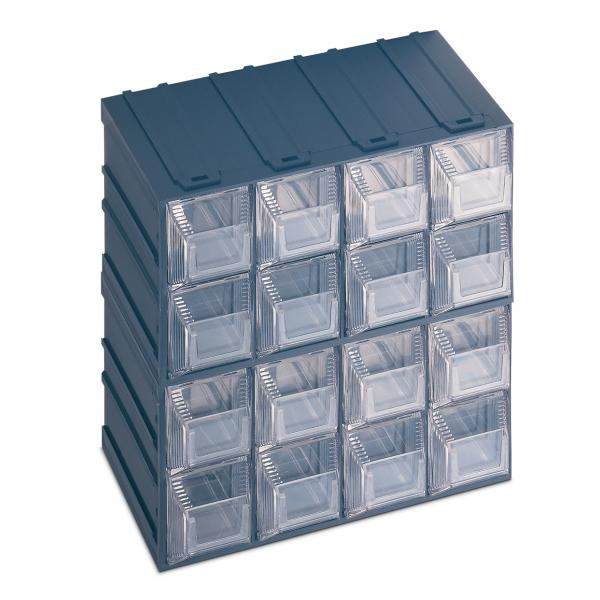 Drawer small parts organizer with label holder 16 drawers for Utensil organizer for small drawers