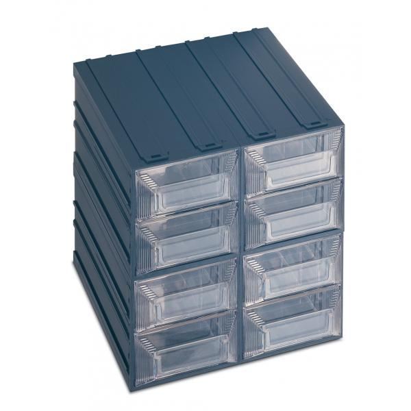 Drawer Small Parts Organizer With Label Holder 8 Drawers