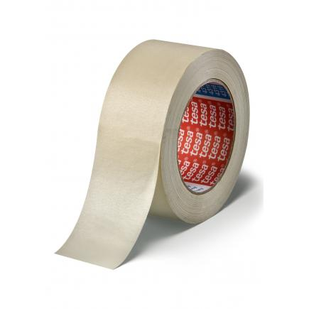 Slightly-creped paper masking tape for paint spraying
