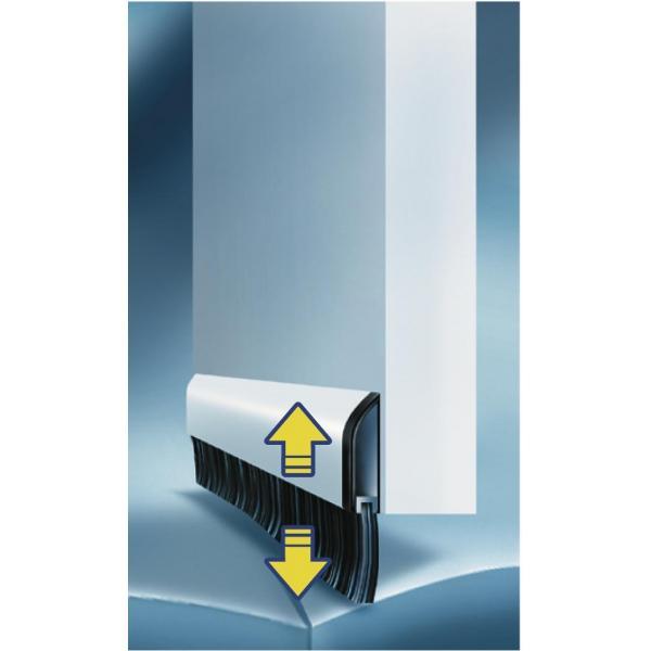 tesa alluminium door brush 1 mt x 40 mm. Black Bedroom Furniture Sets. Home Design Ideas