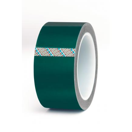 Green polyester/silicone masking tape - high temperature resistant