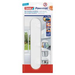 Self-adhesive white Hook Rack - 1 hook + 4 strips