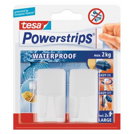 Pack of 12 Self-adhesive double sided Removable Waterproof hooks - It holds up to 2 kgs - 6 pcs.