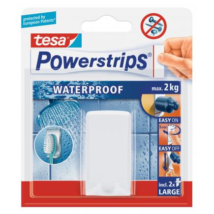 Pack of 6 Self-adhesive waterproof toothbrush holder - It holds up to 2 kgs