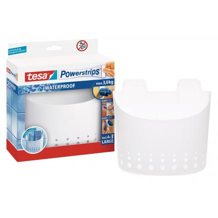Pack of 3 Self-adhesive large waterproof basket - It holds up to 3 kgs