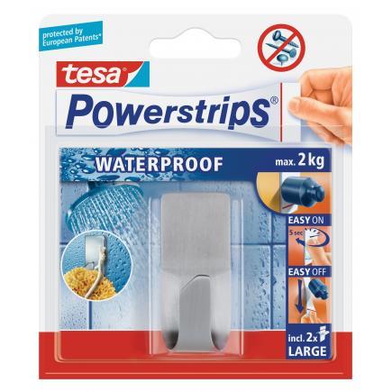 Pack of 6 Self-adhesive Waterproof Metal Hook - it holds up to 20kgs - 1 hook + 2 strips