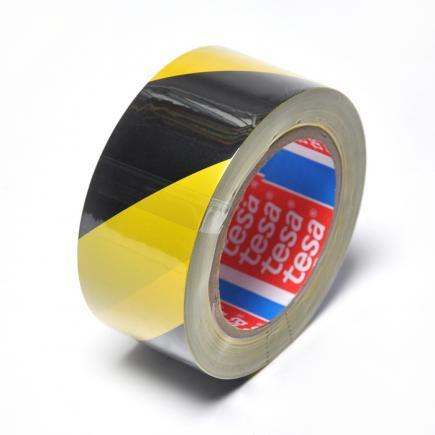 Nastro adesivo per segnalazione di superfici in PVC giallo/nero