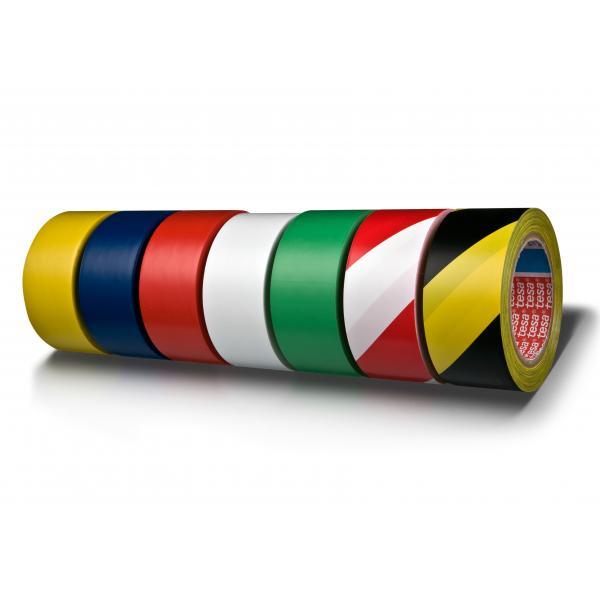 TESA 60760GN PVC TAPE FOR FLOOR MARKING YELLOW BLACK